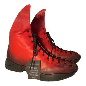 Papucei New Women's Boots Pera Red Leather